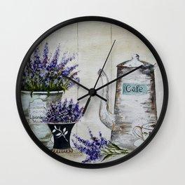 Lavender, vintage Wall Clock