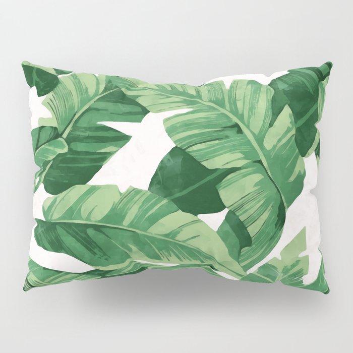Tropical banana leaves IV Pillow Sham