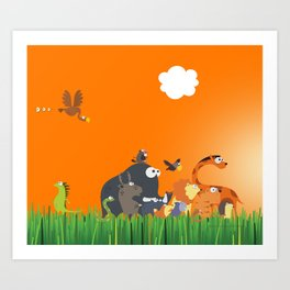 What's going on in the jungle? Kids collection Art Print