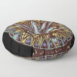 Trinity Merkabah Spirit Dove Mandala Floor Pillow