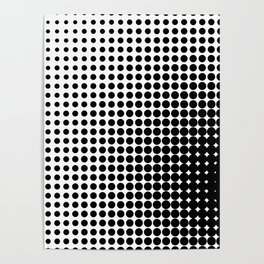 HALFTONE PATTERN Poster