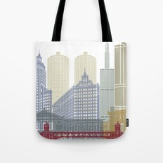 Chicago skyline poster Tote Bag