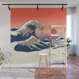 The Great Wave of Shiba Inu Wall Mural