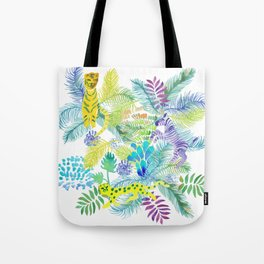 Jungle animals pattern Tote Bag