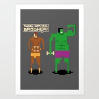 workout Art Prints featuring Sweet Workout by Hoborobo