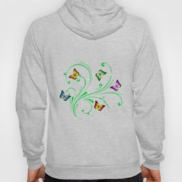 Colorful butterflies Hoody