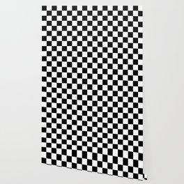 Black & White Checker Checkerboard Checkers Wallpaper