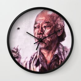 Mr. Miyagi from Karate Kid Wall Clock