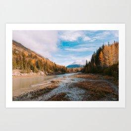 Autumn at Bird Creek Art Print