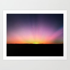 spacey sunset Art Print
