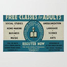Vintage poster - Adult Education Rug
