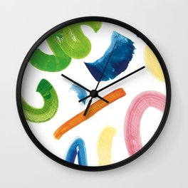 water-colour pattern Wall Clock