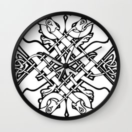 Celtic dogs 1 Wall Clock