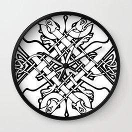 Celtic dogs 1 Wall Clock
