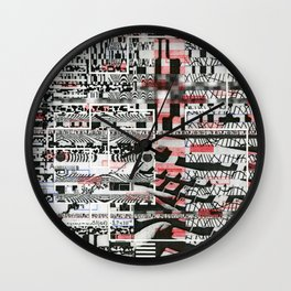 Click-N-Fail (P/D3 Glitch Collage Studies) Wall Clock