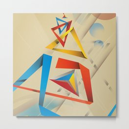 Abstractionist – Pyramids Metal Print