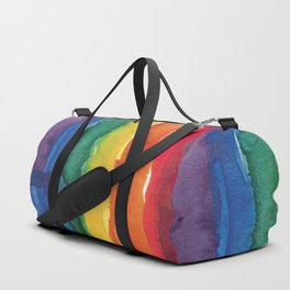 rainbow watercolor Duffle Bag