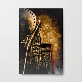 Vintage Steam Engine Locomotive - Commanding Heights Metal Print
