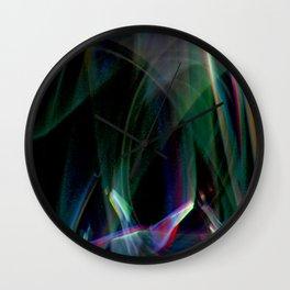 aurora borealis lightpainting Wall Clock