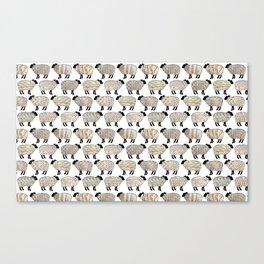 Wee Wooly Sheep In Aran Sweaters Canvas Print