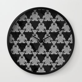 Black Marble Triangle Design Wall Clock