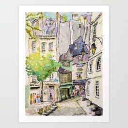 Odette, Paris Art Print