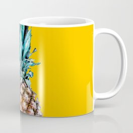 Pineapple Ananas On A Yellow Mellow Background #decor #society6 #buyart Coffee Mug