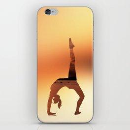 Yoga - One Legged Wheel Pose iPhone Skin