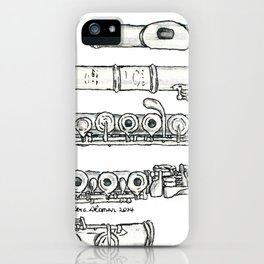 Flöte iPhone Case