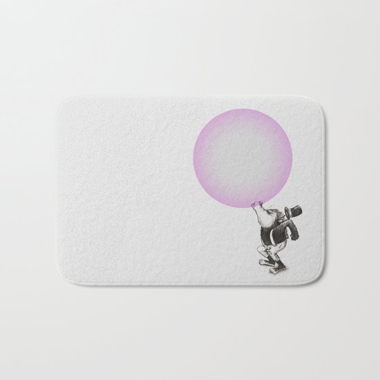 Bubblegum Blowing Champion Bath Mat