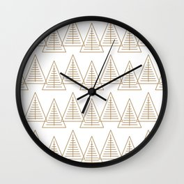 Winter Hoidays Pattern #7 Wall Clock