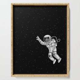 Astronaut in the outer space Serving Tray