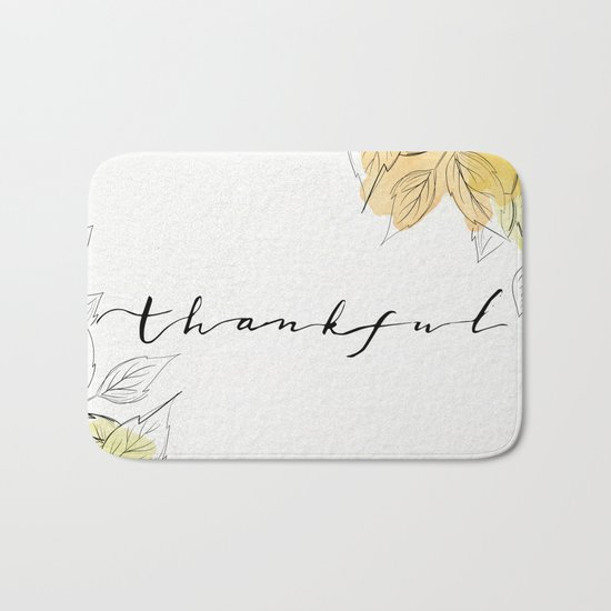 THANKFUL LEAFS Bath Mat