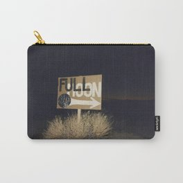 full moon sign w sunset Carry-All Pouch