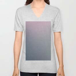 WATER WALL - Minimal Plain Soft Mood Color Blend Prints Unisex V-Neck