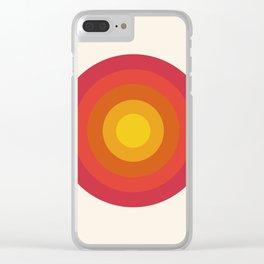 Right On - retro throwback 70s 1970s bullseye beach 70's vibes minimal art by Seventy Eight Clear iPhone Case