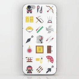 CUTE NINJA PATTERN iPhone Skin