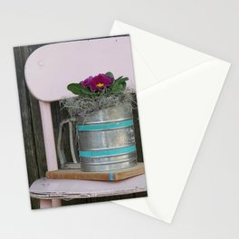 Vintage Pink Chair Stationery Cards