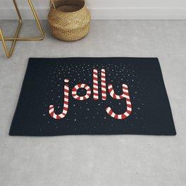 Jolly Christmas Word Art Rug