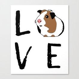Guinea Pig Gift Love Guinea Pig Guinea Pig Lovers Birthday Present Canvas Print