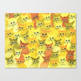 Yellowstone Whimsical Cats Canvas Print