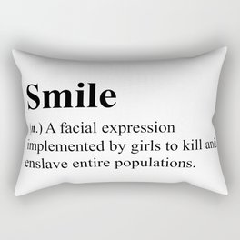 Smile - definition - hipster dictionary - 001 Rectangular Pillow