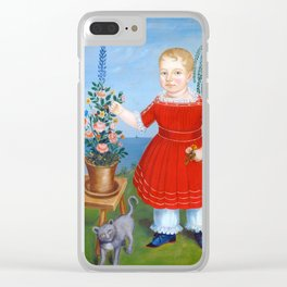 Child and Cat Painting, 1852 Clear iPhone Case