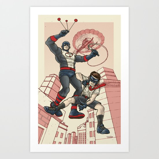 Bola and Kid Sling Art Print
