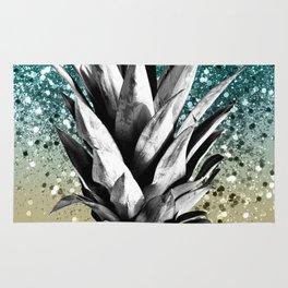Pineapple Lemon Twist Glitter Glam #1 #tropical #fruit #decor #art #society6 Rug