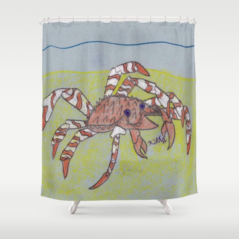 Spider Crab Shower Curtain by Ryanvangogh CTN8490487