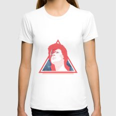 ZIGGY STARDUST White LARGE Womens Fitted Tee