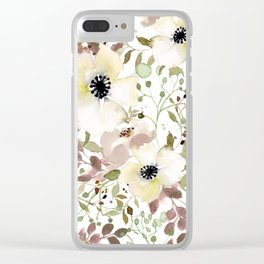 Wildroses Clear iPhone Case