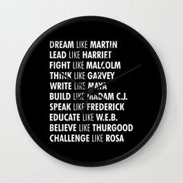Panthers Lives Matter Wall Clock