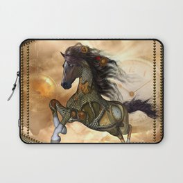 Steampunk, awesome steampunk horse Laptop Sleeve